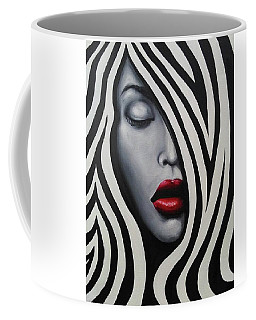 Coffee Mug featuring the painting Gravity by Blake Emory