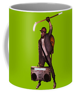 Coffee Mug featuring the digital art Gravity Poster by Nelson Garcia