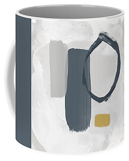 Coffee Mug featuring the mixed media Grayscale 2- Abstract Art By Linda Woods by Linda Woods
