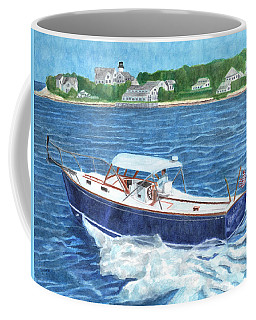 Coffee Mug featuring the painting Great Ackpectations Nantucket by Dominic White