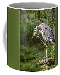 Great Blue Heron Itch Coffee Mug
