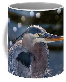 Great Blue Heron Profile Coffee Mug