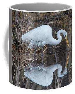 Great Egret In Breeding Plumage Dmsb0154 Coffee Mug