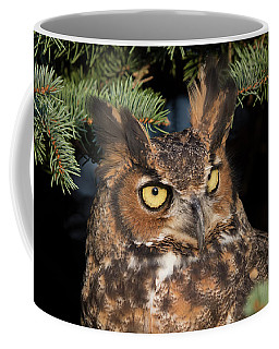 Coffee Mug featuring the photograph Great Horned Owl 10181802 by Rick Veldman