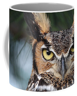 Coffee Mug featuring the photograph Great Horned Owl Eyes 51518 by Rick Veldman