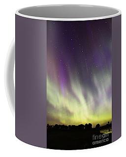 Green And Purple Fire In The Sky Coffee Mug
