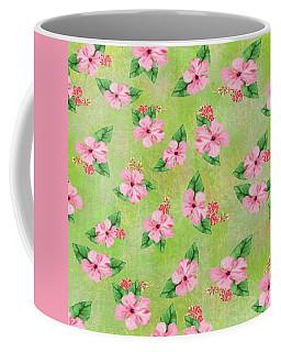 Green Batik Tropical Multi-foral Print Coffee Mug