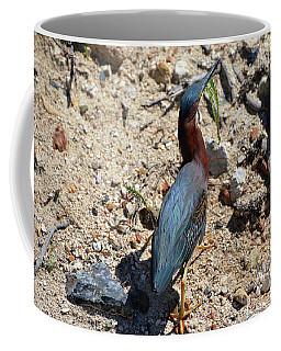 Green Heron Strut Coffee Mug