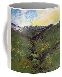 Coffee Mug featuring the painting Green Hills by Norma Duch