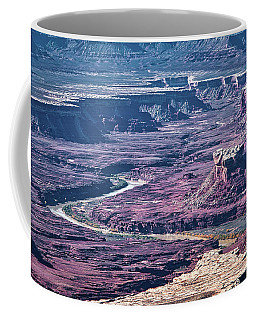 Coffee Mug featuring the photograph Green River Moonscape by Andy Crawford