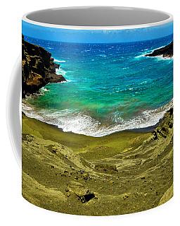 Green Sand Beach Coffee Mug