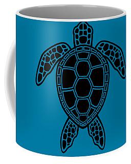 Green Sea Turtle Design - Black Coffee Mug