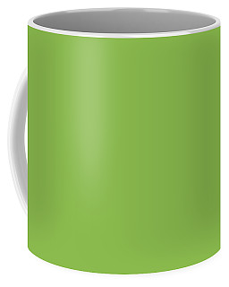 Coffee Mug featuring the mixed media Greenery - Pantone Color Of The Year 2017 by Carol Cavalaris