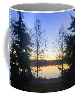 Greenlake Dawn Evergreens Coffee Mug