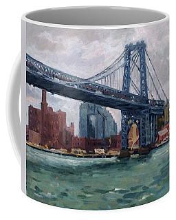 Grey And Blue Williamsburg Bridge Nyc Coffee Mug