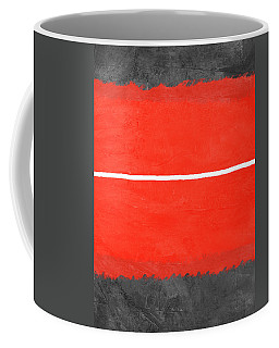 Grey And Red Abstract II Coffee Mug