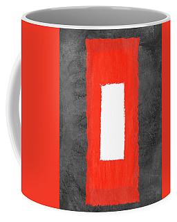 Grey And Red Abstract Iv Coffee Mug
