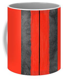 Grey And Red Abstract V Coffee Mug