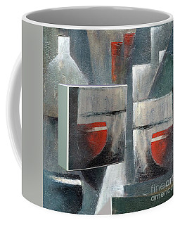 Coffee Mug featuring the painting Reflections by Val Byrne