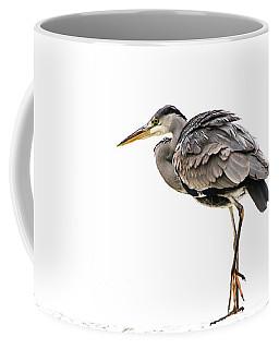 Grey Heron On Snow Coffee Mug