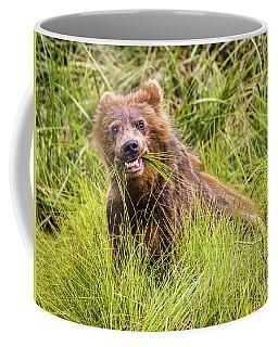 Grizzly Cub Grazing, Alaska Coffee Mug