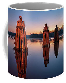 Group Of Three Docking Piles On Connecticut River Coffee Mug