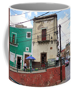 Coffee Mug featuring the photograph Guanajuato Street Corner by Rosanne Licciardi