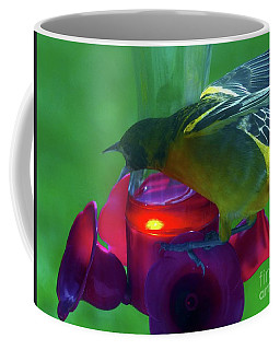 Coffee Mug featuring the photograph Guarding The Nectar by Rosanne Licciardi