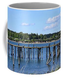 Guemes Island And Old Pier Coffee Mug