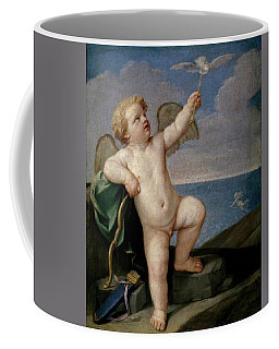 Guido Reni / 'cupid', 1637-1638, Italian School, Oil On Canvas, 101 Cm X 88 Cm, P00150. Coffee Mug