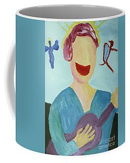 Guitar Player With Angels Coffee Mug