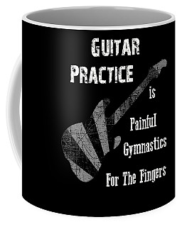 Coffee Mug featuring the digital art Guitar Practice Is Painful by Guitar Wacky