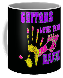 Coffee Mug featuring the photograph Guitars Love You Back by Guitar Wacky