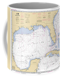 Gulf Of Mexico, Noaa Chart 411 Coffee Mug