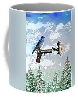 Bluebird Of Happiness- Flower In A Gun Coffee Mug