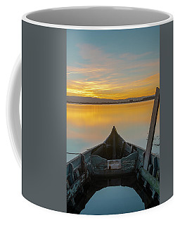 Coffee Mug featuring the photograph Half A Boat by Bruno Rosa