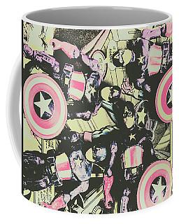Halftone Superheroes Coffee Mug