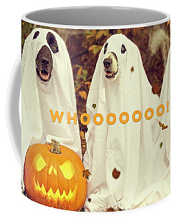 Coffee Mug featuring the photograph Halloween Hounds by ISAW Company