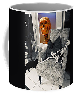 Halloween Window Dressing Coffee Mug