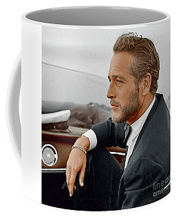 Hand Colored Picture Of Paul Newman Coffee Mug