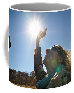 Coffee Mug featuring the photograph Handful Of Sunshine by Carl Young