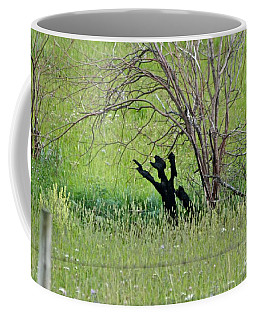 Coffee Mug featuring the photograph Hands Up by Ann E Robson