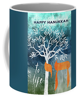 Hanukkah Tree Of Life- Art By Linda Woods Coffee Mug