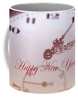 Happy New Year With Decorative And Nostalgic Theme. Coffee Mug