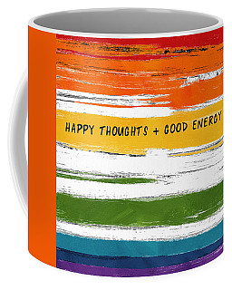 Happy Thoughts Rainbow- Art By Linda Woods Coffee Mug