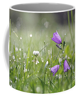 Harebells And Water Drops Coffee Mug