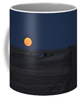 Coffee Mug featuring the photograph Harvest Moon 2 by Carl Young
