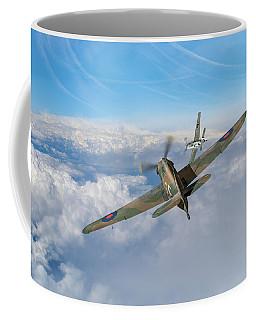 Coffee Mug featuring the photograph Hawker Hurricane Deflection Shot by Gary Eason