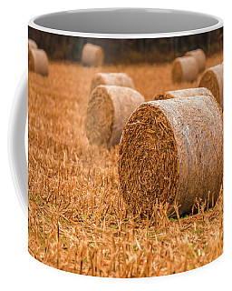 Coffee Mug featuring the photograph Hay Rolls by Dan Sproul