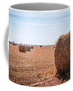 Coffee Mug featuring the photograph Hay Rolls by Dheeraj Mutha
